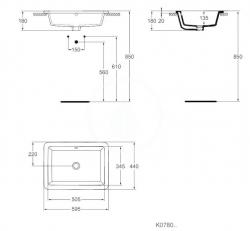 IDEAL STANDARD - Strada Umývadlo 595x440x180mm, biela (K078001), fotografie 4/3