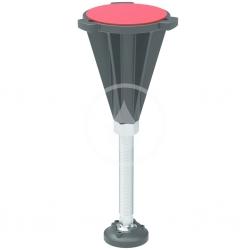 IDEAL STANDARD - Ultra Flat S Nohy k sprchovej vaničke, chróm/čierna (K936467)