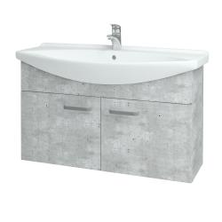 Dreja - Kúpeľňová skriňa TAKE IT SZD2 105 - D01 Beton / Úchytka T01 / D01 Beton (133443A)