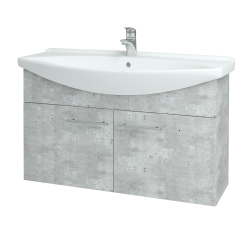 Dreja - Kúpeľňová skriňa TAKE IT SZD2 105 - D01 Beton / Úchytka T02 / D01 Beton (133443B)