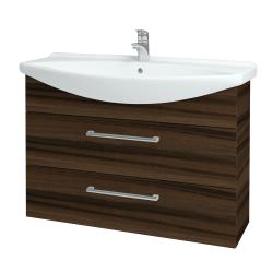Dreja - Kúpeľňová skriňa TAKE IT SZZ2 105 - D06 Ořech / Úchytka T03 / D06 Ořech (134228C)