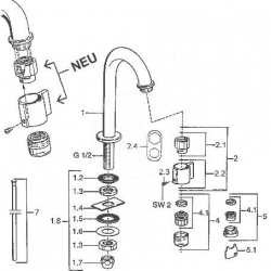 HANSA - Nova Umývadlový stojančekový ventil, chróm (00918101), fotografie 2/2