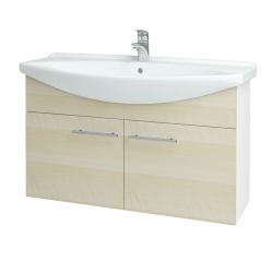 Dreja - Kúpeľňová skriňa TAKE IT SZD2 105 - N01 Bílá lesk / Úchytka T02 / D02 Bříza (152208B)