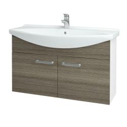 Dreja - Kúpeľňová skriňa TAKE IT SZD2 105 - N01 Bílá lesk / Úchytka T03 / D03 Cafe (152215C)