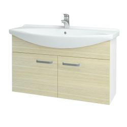 Dreja - Kúpeľňová skriňa TAKE IT SZD2 105 - N01 Bílá lesk / Úchytka T01 / D04 Dub (152222A)