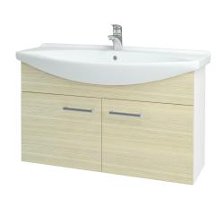 Dreja - Kúpeľňová skriňa TAKE IT SZD2 105 - N01 Bílá lesk / Úchytka T03 / D04 Dub (152222C)