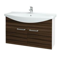 Dreja - Kúpeľňová skriňa TAKE IT SZD2 105 - N01 Bílá lesk / Úchytka T03 / D06 Ořech (152246C)