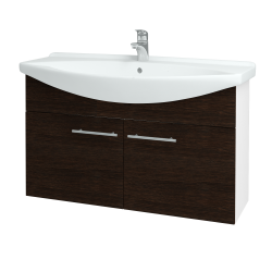 Dreja - Kúpeľňová skriňa TAKE IT SZD2 105 - N01 Bílá lesk / Úchytka T02 / D08 Wenge (152253B)