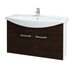 Dreja - Kúpeľňová skriňa TAKE IT SZD2 105 - N01 Bílá lesk / Úchytka T03 / D08 Wenge (152253C)