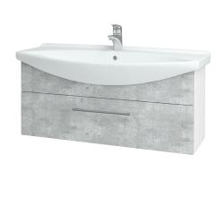 Dreja - Kúpeľňová skriňa TAKE IT SZZ 105 - N01 Bílá lesk / Úchytka T03 / D01 Beton (152642C)