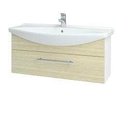 Dreja - Kúpeľňová skriňa TAKE IT SZZ 105 - N01 Bílá lesk / Úchytka T02 / D04 Dub (152673B)