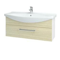 Dreja - Kúpeľňová skriňa TAKE IT SZZ 105 - N01 Bílá lesk / Úchytka T03 / D04 Dub (152673C)