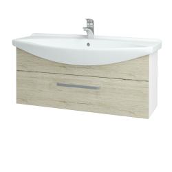 Dreja - Kúpeľňová skriňa TAKE IT SZZ 105 - N01 Bílá lesk / Úchytka T01 / D05 Oregon (152680A)