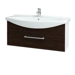 Dreja - Kúpeľňová skriňa TAKE IT SZZ 105 - N01 Bílá lesk / Úchytka T03 / D08 Wenge (152703C)