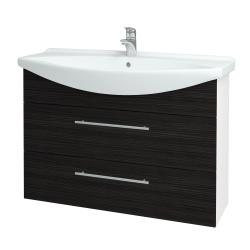 Dreja - Kúpeľňová skriňa TAKE IT SZZ2 105 - N01 Bílá lesk / Úchytka T02 / D14 Basalt (153229B)