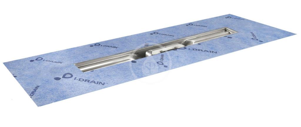 I-Drain - Linear 54 Nerezový sprchový žľab, dĺžka 1100 mm, s hydroizoláciou ID4M11001X1