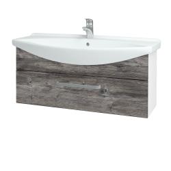 Dreja - Kúpeľňová skriňa TAKE IT SZZ 105 - N01 Bílá lesk / Úchytka T01 / D10 Borovice Jackson (207168A)