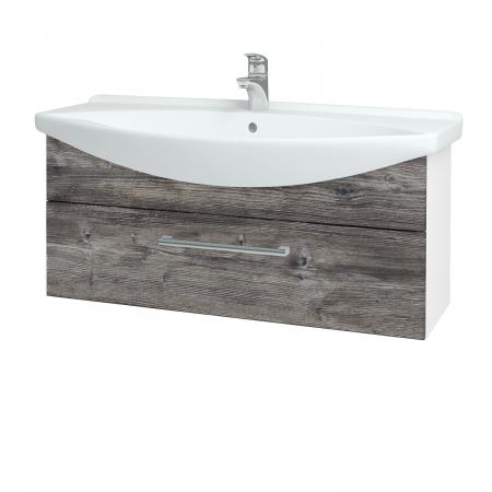 Dreja - Kúpeľňová skriňa TAKE IT SZZ 105 - N01 Bílá lesk / Úchytka T03 / D10 Borovice Jackson (207168C)
