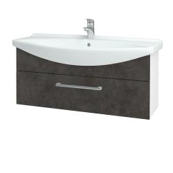 Dreja - Kúpeľňová skriňa TAKE IT SZZ 105 - N01 Bílá lesk / Úchytka T03 / D16 Beton tmavý (207182C)