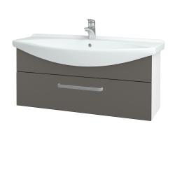 Dreja - Kúpeľňová skriňa TAKE IT SZZ 105 - N01 Bílá lesk / Úchytka T01 / N06 Lava (207212A)
