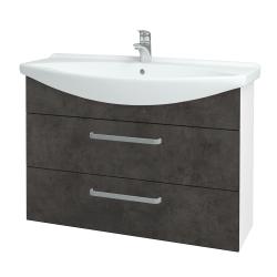 Dreja - Kúpeľňová skriňa TAKE IT SZZ2 105 - N01 Bílá lesk / Úchytka T01 / D16 Beton tmavý (207984A)