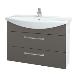 Dreja - Kúpeľňová skriňa TAKE IT SZZ2 105 - N01 Bílá lesk / Úchytka T03 / N06 Lava (208011C)