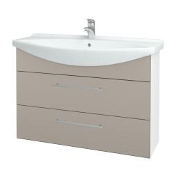 Dreja - Kúpeľňová skriňa TAKE IT SZZ2 105 - N01 Bílá lesk / Úchytka T02 / N07 Stone (208028B)