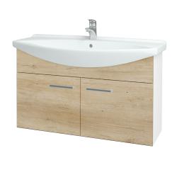 Dreja - Kúpeľňová skriňa TAKE IT SZD2 105 - N01 Bílá lesk / Úchytka T03 / D15 Nebraska (206376C)