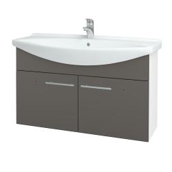 Dreja - Kúpeľňová skriňa TAKE IT SZD2 105 - N01 Bílá lesk / Úchytka T02 / N06 Lava (206413B)
