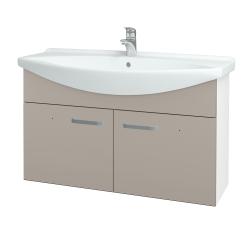 Dreja - Kúpeľňová skriňa TAKE IT SZD2 105 - N01 Bílá lesk / Úchytka T01 / N07 Stone (206420A)