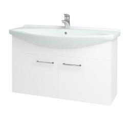 Dreja - Kúpeľňová skriňa TAKE IT SZD2 105 - N01 Bílá lesk / Úchytka T04 / N01 Bílá lesk (133610E)