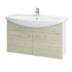 Dreja - Kúpeľňová skriňa TAKE IT SZD2 105 - N01 Bílá lesk / Úchytka T04 / D05 Oregon (152239E)