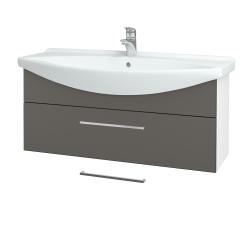Dreja - Kúpeľňová skriňa TAKE IT SZZ 105 - N01 Bílá lesk / Úchytka T04 / N06 Lava (207212E)