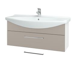 Dreja - Kúpeľňová skriňa TAKE IT SZZ 105 - N01 Bílá lesk / Úchytka T04 / N07 Stone (207229E)
