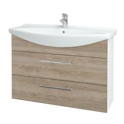 Dreja - Kúpeľňová skriňa TAKE IT SZZ2 105 - N01 Bílá lesk / Úchytka T04 / D17 Colorado (207991E)