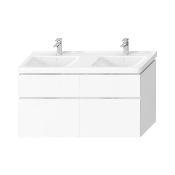 JIKA - Cubito Pure Skrinka pod dvojumývadlo 1280 mmx683 mm, biela H40J4274025001