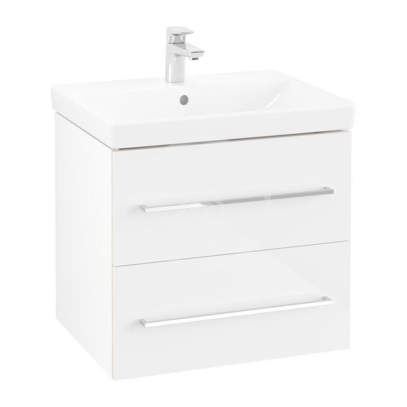 VILLEROY & BOCH - Avento Umývadlová skrinka, 580x514x452 mm, 2 zásuvky, Crystal White A88900B4