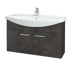 Dreja - Kúpeľňová skriňa TAKE IT SZD2 105 - D16  Beton tmavý / Úchytka T04 / D16 Beton tmavý (206345E)