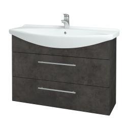 Dreja - Kúpeľňová skriňa TAKE IT SZZ2 105 - D16  Beton tmavý / Úchytka T02 / D16 Beton tmavý (207946B)