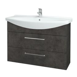 Dreja - Kúpeľňová skriňa TAKE IT SZZ2 105 - D16  Beton tmavý / Úchytka T04 / D16 Beton tmavý (207946E)