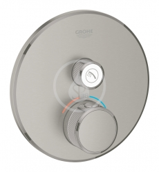 GROHE - Grohtherm SmartControl Termostatická sprchová batéria pod omietku s jedným ventilom, kefovaný Hard Graphite (29118AL0)