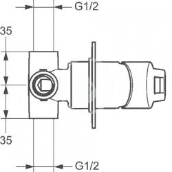 HANSA - Twist Sprchová batéria pod omietku, chróm (49777005), fotografie 4/2