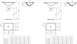IDEAL STANDARD - Connect Umývadlo zapustené hranaté, 580×175×410 mm, biela (E505901), fotografie 2/2