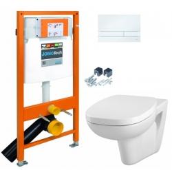 JOMOTech modul pre závesné WC s bielou doskou + WC CERSANIT FACILE + SEDADLO duraplastu (174-91100900-00 FA1)