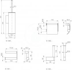 IDEAL STANDARD - Connect Držiak na rezervný toaletný papier, chróm (N1383AA), fotografie 2/2