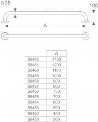 IDEAL STANDARD - Contour 21 Oporné držadlo 600 mm, modrá (S645436), fotografie 6/7