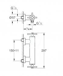 GROHE - Atrio Sprchová batéria, chróm (26003003), fotografie 2/1