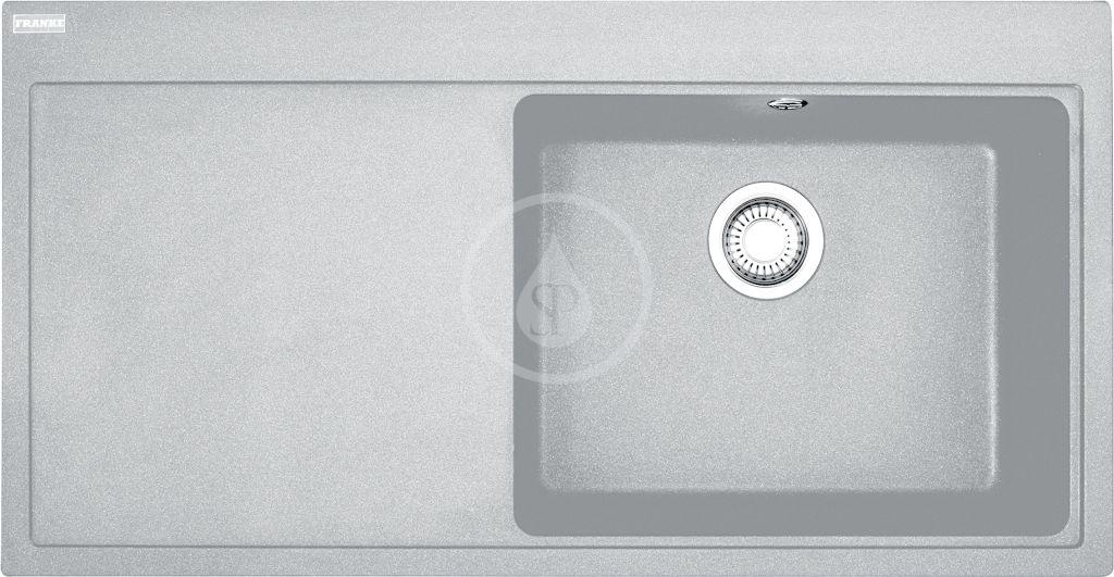 FRANKE FRANKE - Mythos Granitový drez MTG 611/7, 1000x515 mm, sivý kameň 114.0150.014