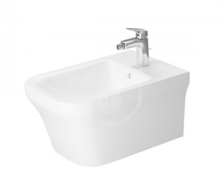 DURAVIT - P3 Comforts Závesný bidet, Durafix, s WonderGliss, alpská biela (22681500001)