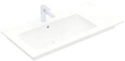 VILLEROY & BOCH - Venticello Umývadlo nábytkové 1000x500 mm, s prepadom, otvor na batériu, CeramicPlus, alpská biela (4134L1R1)
